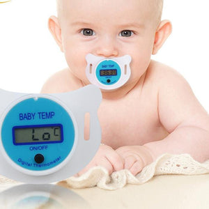 Baby Nipple Thermometer Medical Silicone Pacifier LCD Digital