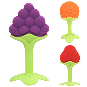 Baby Teether Silicone Fruit Shape Baby Toys New Baby Dental Care Toothbrush Training Silicone Baby Teether
