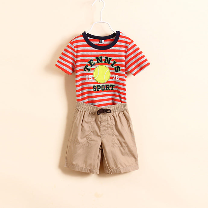 Boys Brand Clothing Sets 2014 New Kids Apparels Boy Clothing Set Baby Boys 2-piece Sets T-shirts+shorts Summer Cotton Clothing