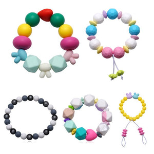 Fashion Chic Silicone Baby Teether Personality Character Trend Bracelet Infant Teething Toys Baby Oral Care