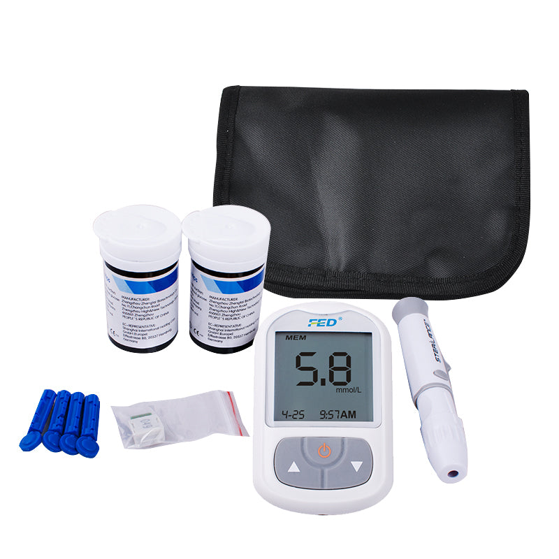 Blood Glucose Meter Tests Sugar Monitor Diabetic