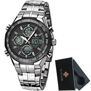 Luxury Brand LED Dual Display Military Watch - DoorBusterDirect