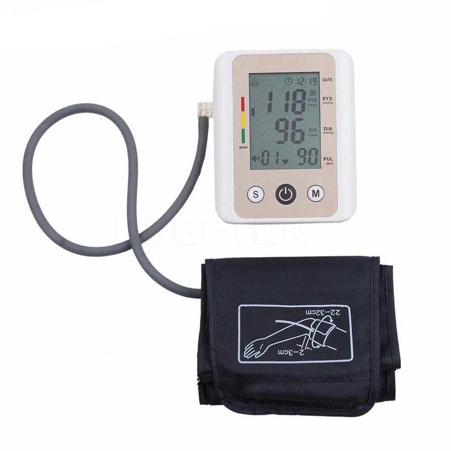 LCD Upper Arm Blood Pressure Pulse Monitor Heart