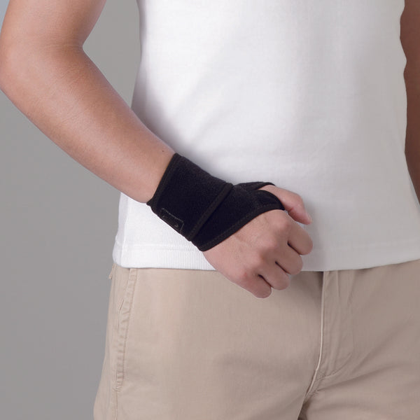 Phiten Wrist Brace w/thumb hook -Hard Type-