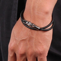 PHITEN RAKUWA BRACELET X100 LEATHER TOUCH