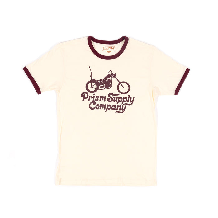 Truckin' Ringer Tee - Natural - Apparel and Accessories - Prism Supply