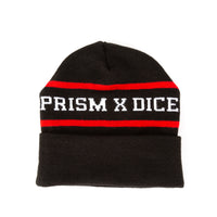 Prism x DicE Beanie - Black and Red - Apparel and Accessories - Prism Supply