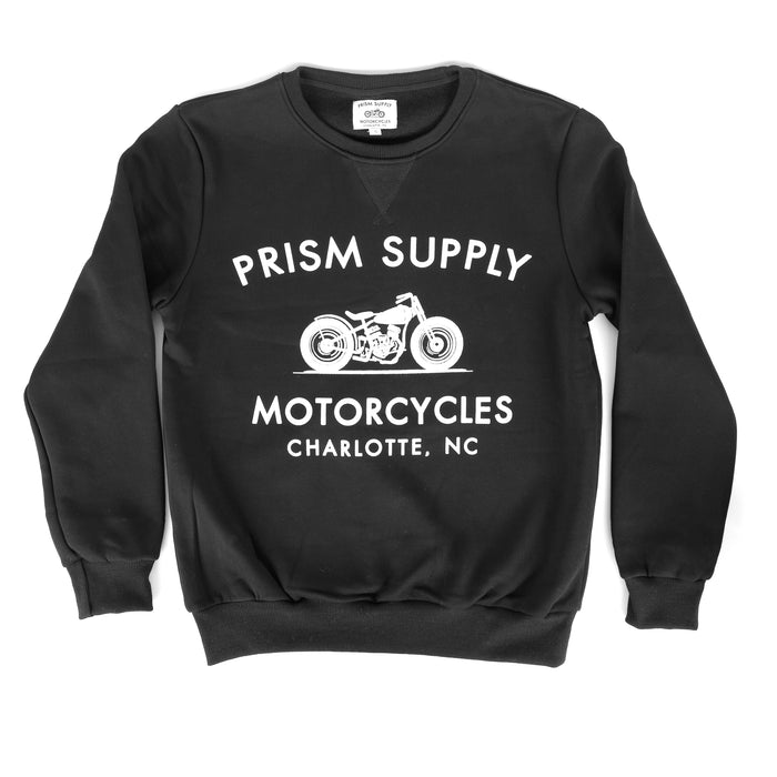 Racer Crewneck - Black - Apparel and Accessories - Prism Supply