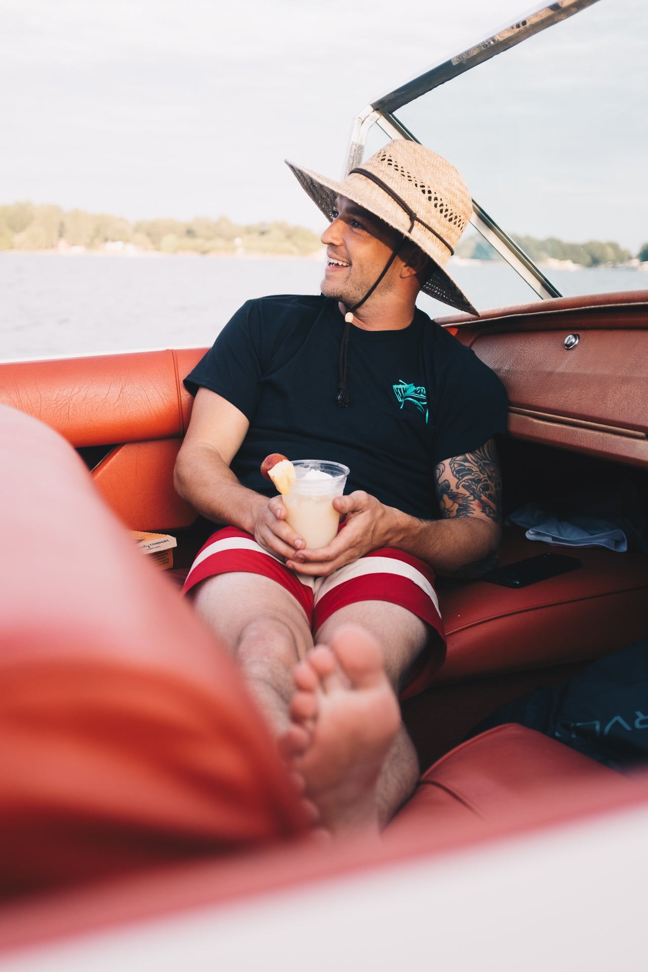 Boat Drink Tee - Black - Apparel and Accessories - Prism Supply