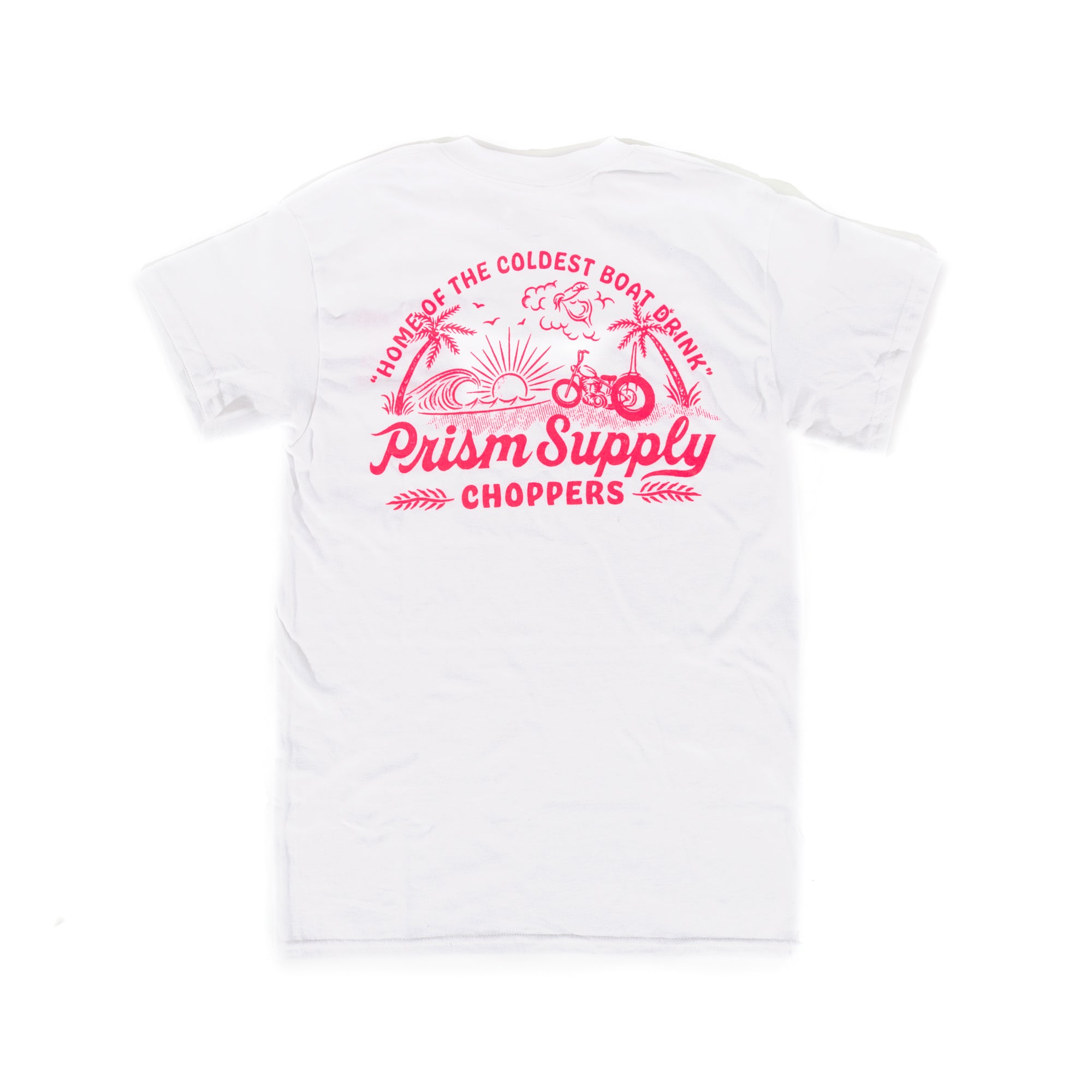 Boat Drink Tee - White - Apparel and Accessories - Prism Supply