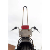 Box Chopper Tail light Weld-On Bracket w/ License Plate Mount - Fabrication Parts - Prism Supply