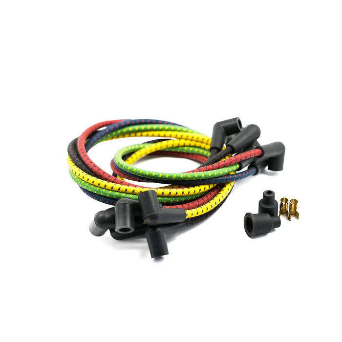 Cloth Spark Plug Wires - Motorcycle Parts - Prism Supply