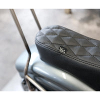 King Cobra Seat - Black Diamond: 82-03 Sportster - MC Parts - Prism Supply