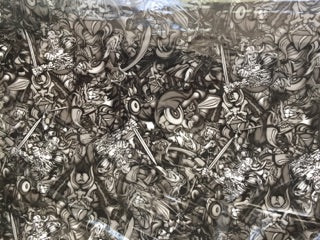 Abstract Vikings & Monsters - 50cm wide - Hydrographics PVA Film