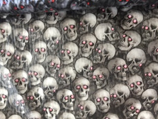 Abstract Skulls 4 (Red Eyes) - 50cm wide - Hydrographics PVA Film