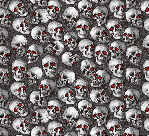 Abstract Skulls 5 (Red Eyes) - 1 meter wide - Hydrographics PVA Film