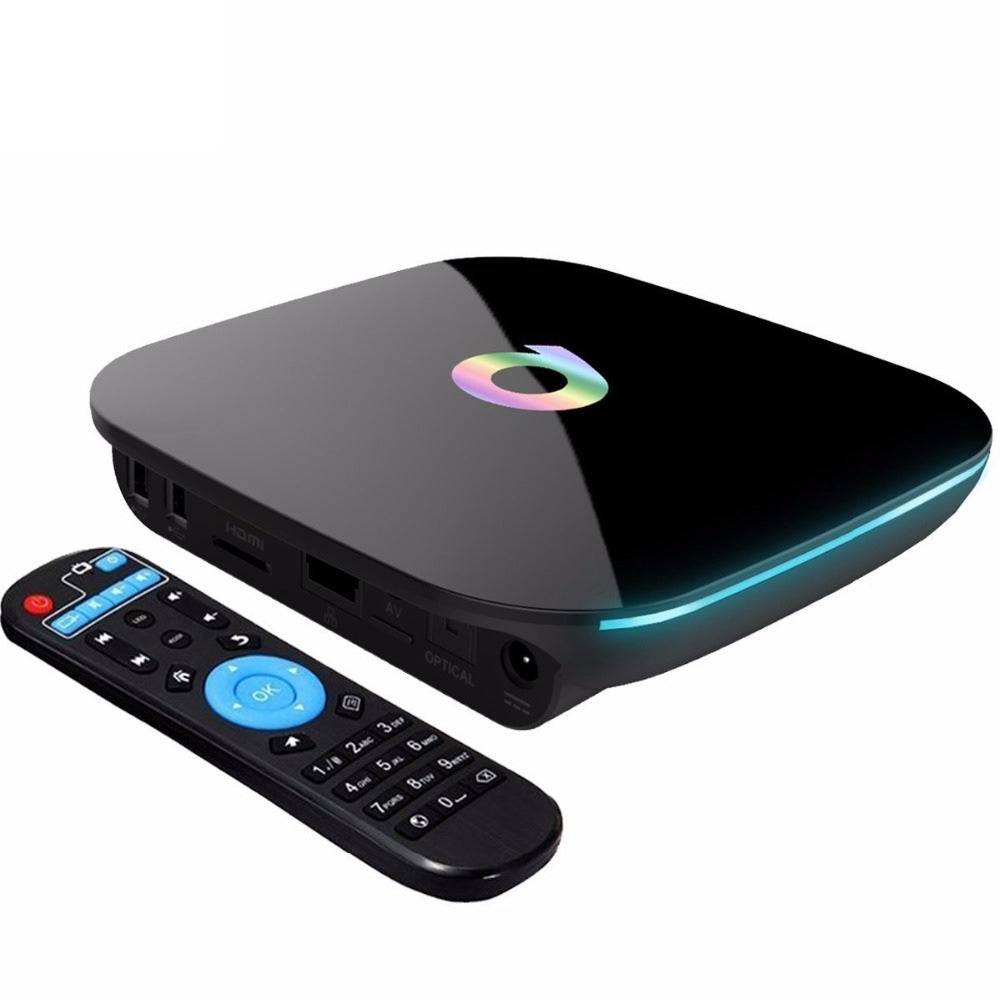 Q Box TV Android receiver 2 GB RAM and 16 GB ROM storage