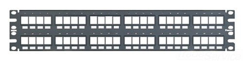 Panduit Patch Panel NKPP48FMY Keystone 48-port modular flush mount patch panel, 2 RU , black