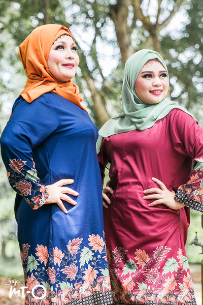 Azarah Autumn Tunic in Navy Blue - Saja Mi-O