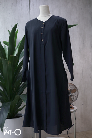 Tess Shirtdress in Black