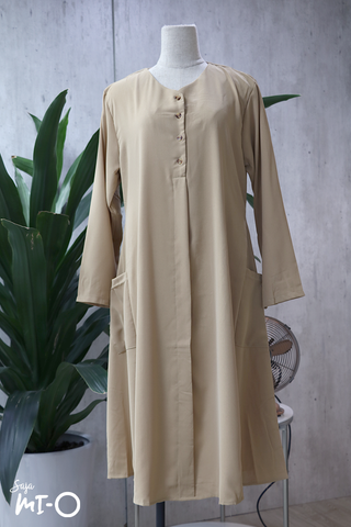 Tess Shirtdress in Beige - Saja Mi-O