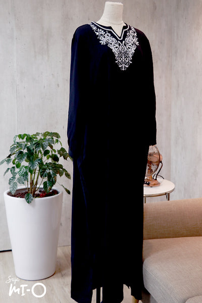 Megha Embroidered Front Dress in Black