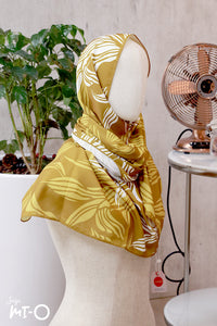 Shahmeen Botanical Headscarf in Gold - Saja Mi-O