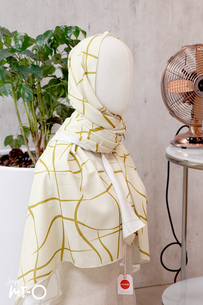 Kalie Headscarf in Yellow - Saja Mi-O
