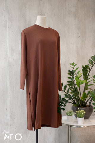Leith Simply Slits Dress in Camel