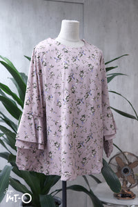 Ashley Floral Top in Soft Pink - Saja Mi-O