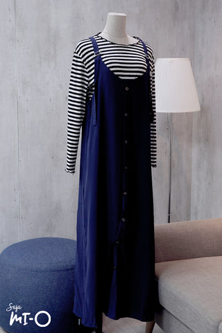 Kate Outer Slip Dress in Admiral Blue - Saja Mi-O