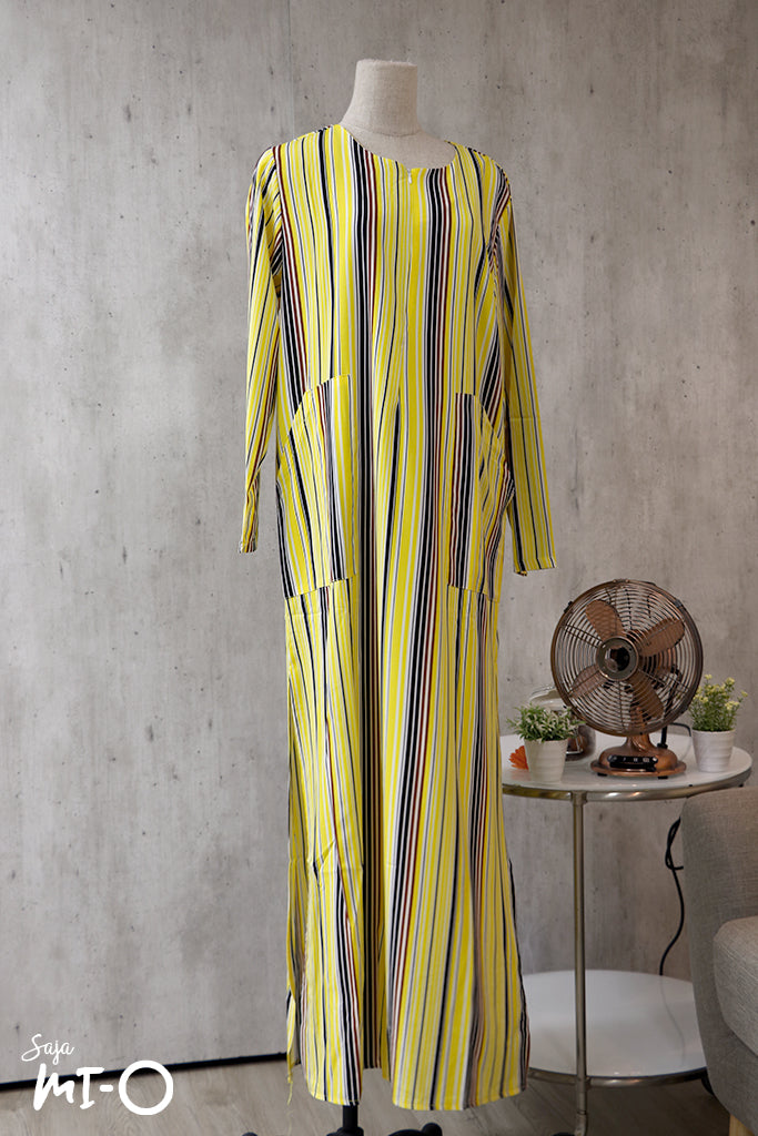 La Belle Striped Dress in Yellow