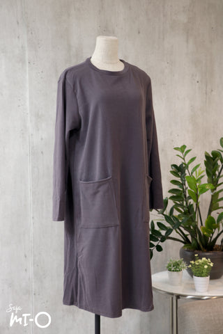 Kyda Twin Pockets Dress in Grey