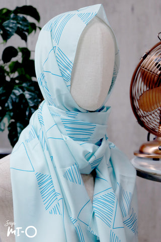 Zahr Pastel Tudung in Soft Blue