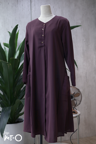Tess Shirtdress in Plum