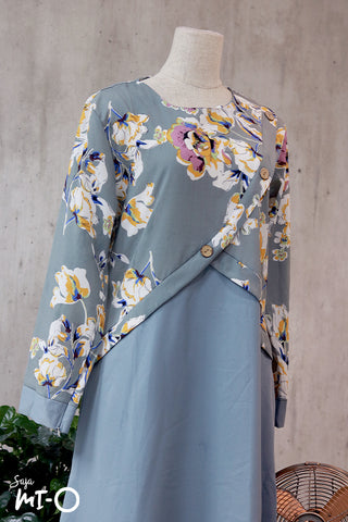 Jamila Floral Dress in Aquamarine