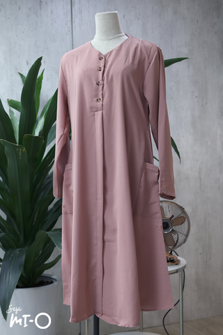 Tess Shirtdress in Soft Pink - Saja Mi-O