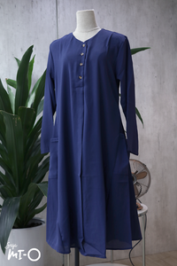 Tess Shirtdress in Navy