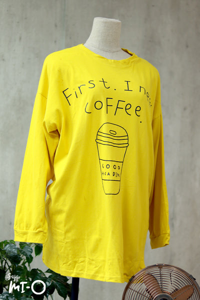 Olivia Coffee-First Top In Blazing Yellow