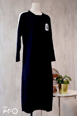 Kinza Long Dress in Black