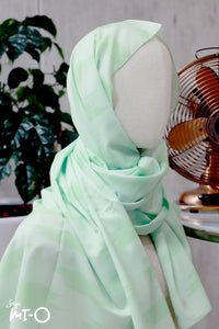 Olia Pastel Tudung in Apple Green