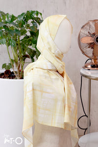 Nasiha Abstracts Headscarf in Honey Yellow - Saja Mi-O