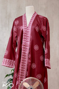 Lyla Songket Jubah in Burgundy