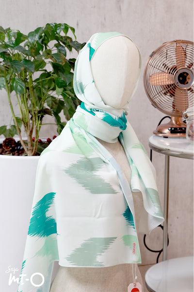 Darya Headscarf in Teal & Mint - Saja Mi-O