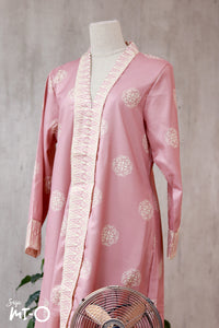 Lyla Songket Jubah in Peach