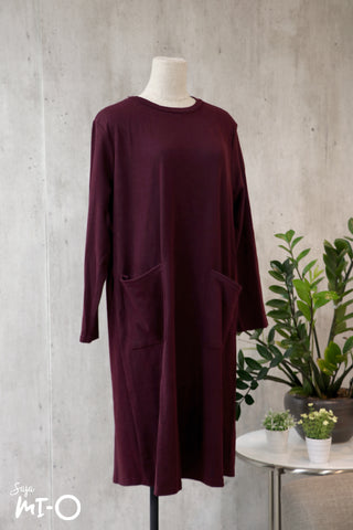 Kyda Twin Pockets Dress in Plum