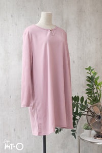 Jehan Keyhole Neck Top in Soft Pink - Saja Mi-O