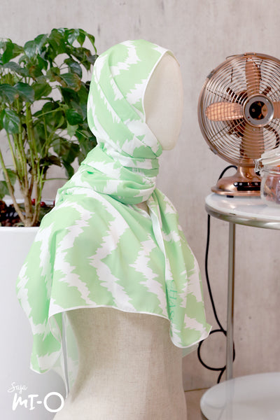 Maisah Pastel Headscarf in Green - Saja Mi-O