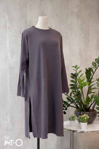 Leith Simply Slits Dress in Grey
