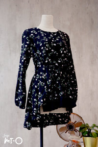 Dhia Floral Clusters Top in Black - Saja Mi-O